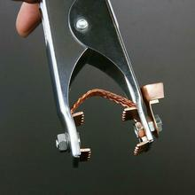 цена на Safe Electrode Clip Holder Tools Equipment Accessory Earth Ground Clamp Cable Welding Welder Portable