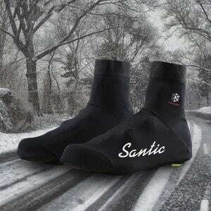 Santic мужские чехлы для велосипедных ботинок, зимняя ветрозащитная велосипедная обувь, защитная обувь MTB для дорожных ботинок, Азиатский разм...