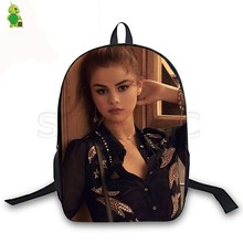 цены на Selena Gomez Fashion School Bags Women Men Daily Backpack Laptop Backpack for Teenage Girls Boys Casual Travel Backpacks  в интернет-магазинах