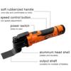 300W elektryczna szlifierka kątowa piły oscylacyjny narzędzie do obróbki drewna szlifierka Cutter skrobak 6 prędkości, szlifowanie, polerowanie, z baterią