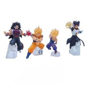 Dragon Ball 4pcs/set Son Goku Mini Action Figures 1/16 scale painted figure Small Size Ver. Gohan Saiyan PVC figure Toys Anime(China)