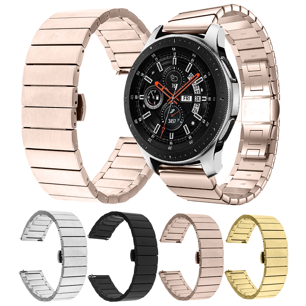 Stainless Steel Replacement Strap Link Bracelet 20mm 22mm For Xiaomi Amazfit Gtr 47mm Stratos 2 Samsung Galaxy Watch 46mm Active
