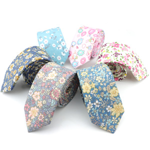 Image 2 - New Style Floral Brisk Soft Texture Tie 100% Cotton For Men&Women Casual Dress Handmade Adult Wedding Tuxedo Tie Accessory Gift