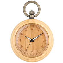 Classic Engraved Pocket Watches Men Exquisite Bamboo Dial Retro Necklace Chain Pendant Watch for Female Gift Concise taschenuhr nature bamboo case quartz pocket watches delicate carving dial alloy pendant chain gift for unisex
