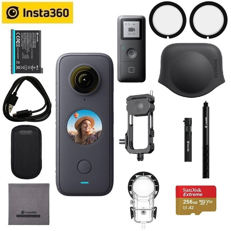 Спортивная Экшн-камера Insta360 One X2, 5,7 K, видео Водонепроницаемая до 10 м, стабилизация потока, устойчивый режим, Экшн-камера