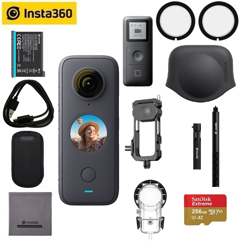 Insta360 One X2 Sport Action Camera 5.7K Video Waterproof To 10M FlowState Stabilization Steady Cam Mode Action Camera