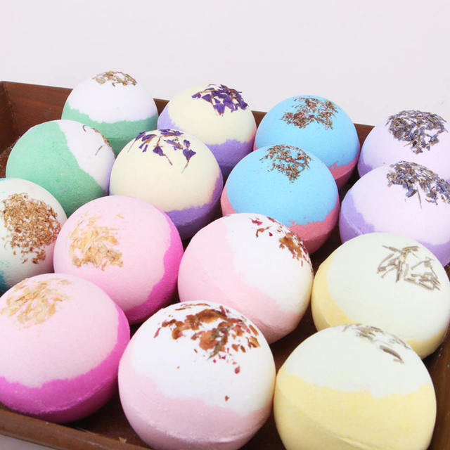 Bath Accessories 1PC 100g Bath Ball Natural Salt Body Skin Care Bubble Bombs Skin Exfoliati Shower Salts 2