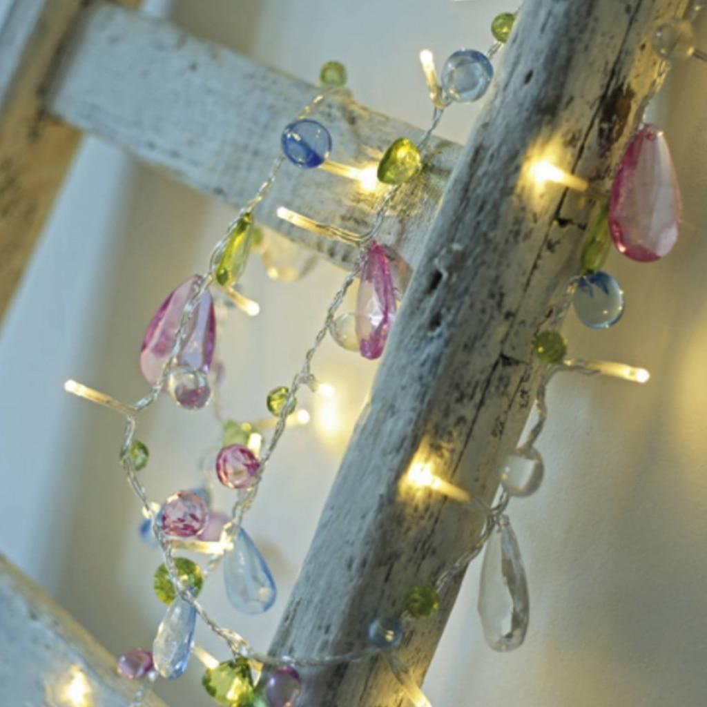 Led String Light  Wedding Crystal String Light Christmas 1.5M 10 Leds Fairy Pink Girl String Light Party Garden Garland Lighting