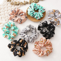 Cute Dog Print Scrunchie Soft Cartoon Elastic Hair Bands For Women Hair Accessories Ponytail Holder Hair Rope Headwear