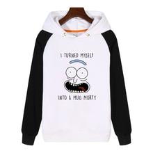 I turn myself into a mug Hoodies fashion men women Sweatshirt Streetwear Hoodie Tracksuit Sportswear AN400