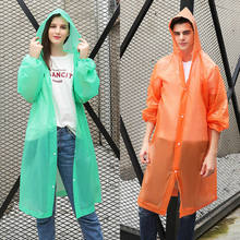 New Men Women Waterproof Jacket PE Hooded Raincoat Transparent Clear Rain Coat Poncho Rainwear(China)
