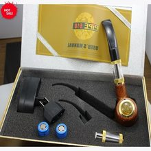 2019 E pipe ePipe 618 Kit with 2pcs 18350 battery wooden Electronic Cigarette smoking Vape pipe with wooden mod 2.5ml atomizer(China)