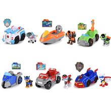 Paw Patrol Dog music Effect Pull back chase Cars Anime  Action Figures Model Patrulla Canina Kids Christmas Toys Gifts