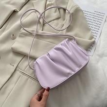 2020 популярные дамы PU плиссированные сумка сумки конфеты цвет маленькая сумка случайные ретро сумка