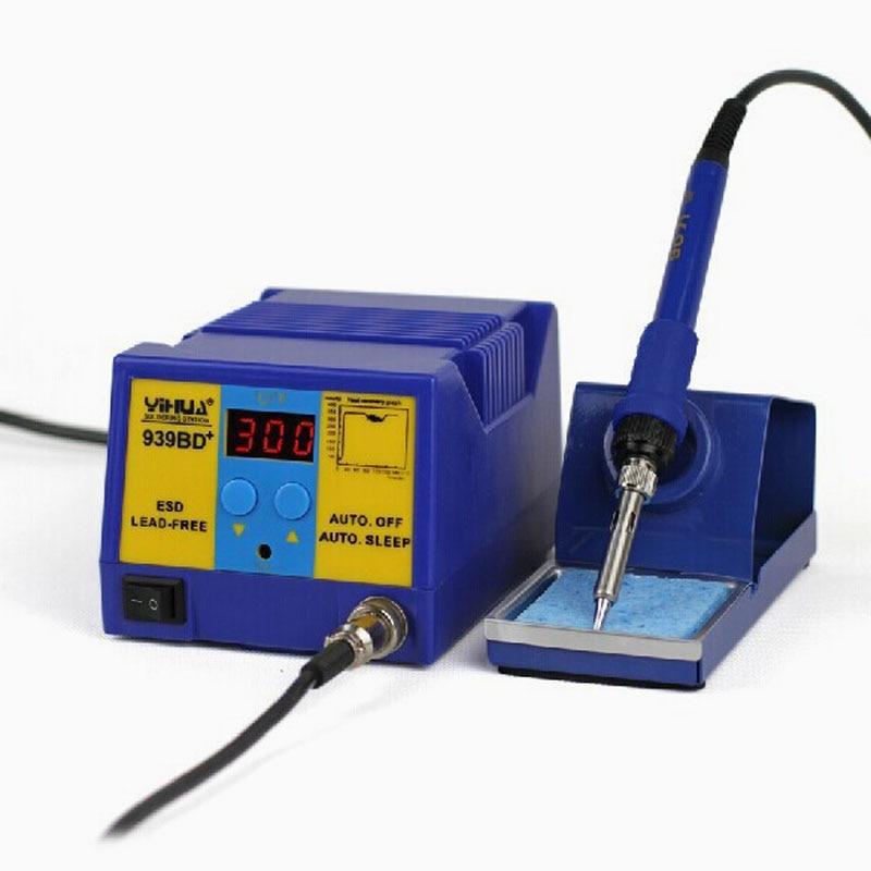 YIHUA 939BD Plus 75W ESD Lead-free Temperature Adjustable Rework Station Machine LED Display