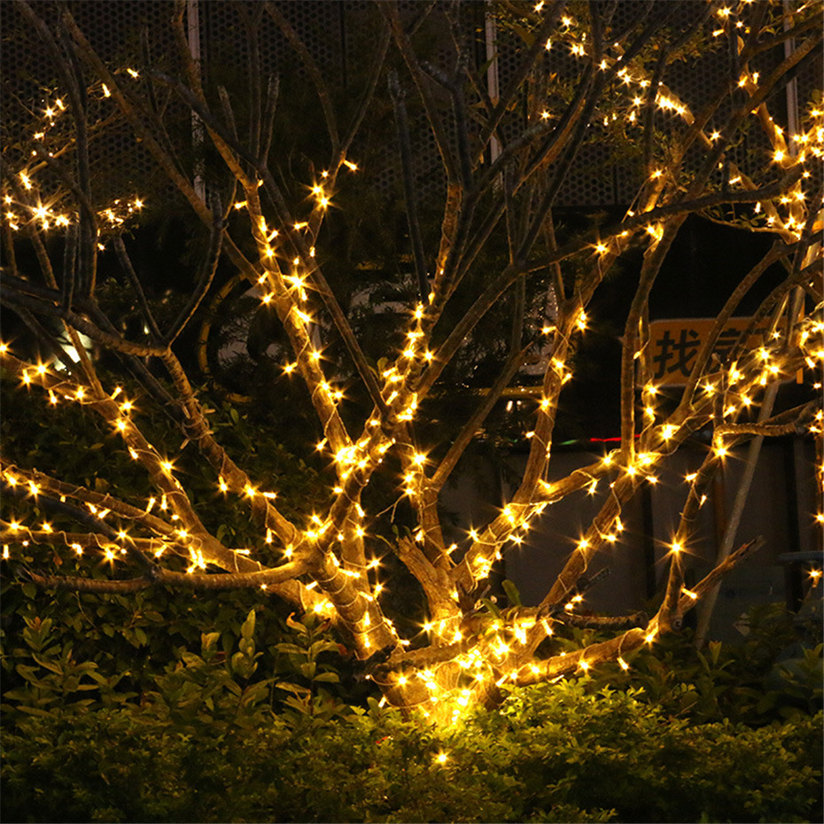 20/30/50/100M Safety LED Street Garland Low Voltage String Light Outdoor Decor For Garden House Square Christmas 24V EU US Plug 4