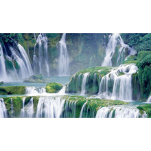 5D Diamond Painting landscape waterfall DIY Full Round Diamond Embroidery Mosaic Picture Rhinestone Home Decor gift 5d diamond painting landscape waterfall diy full round diamond embroidery mosaic picture rhinestone home decor gift