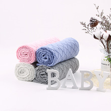Knitted Baby Blankets Newborn Muslin Swaddle Organic Cotton Childrens Bed Soft Bedding Newborns Blanket
