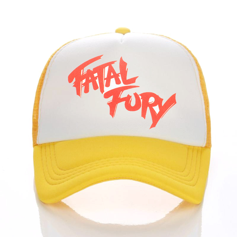 Terry Bogard Mesh Caps The King of Fighters FURY F Hat Cosplay Visor Cap Hat Summer Mesh Caps Unisex