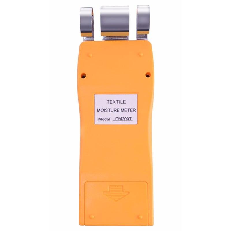 Instrumento dm200t alto desempenho portátil digital têxtil umidade medidor de medição display lcd - 3