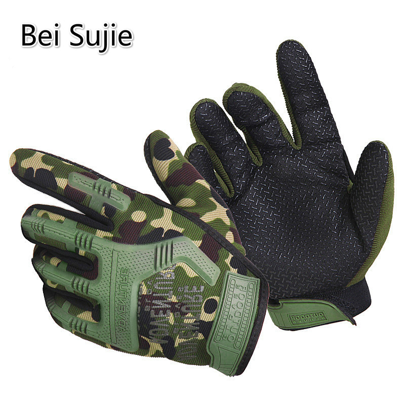 BeiSujie Military Tactical Gloves For Men Anti-skid Combat Gloves Hunting Luva Tatica Army Airsoft Paintball Gloves Handschoenen