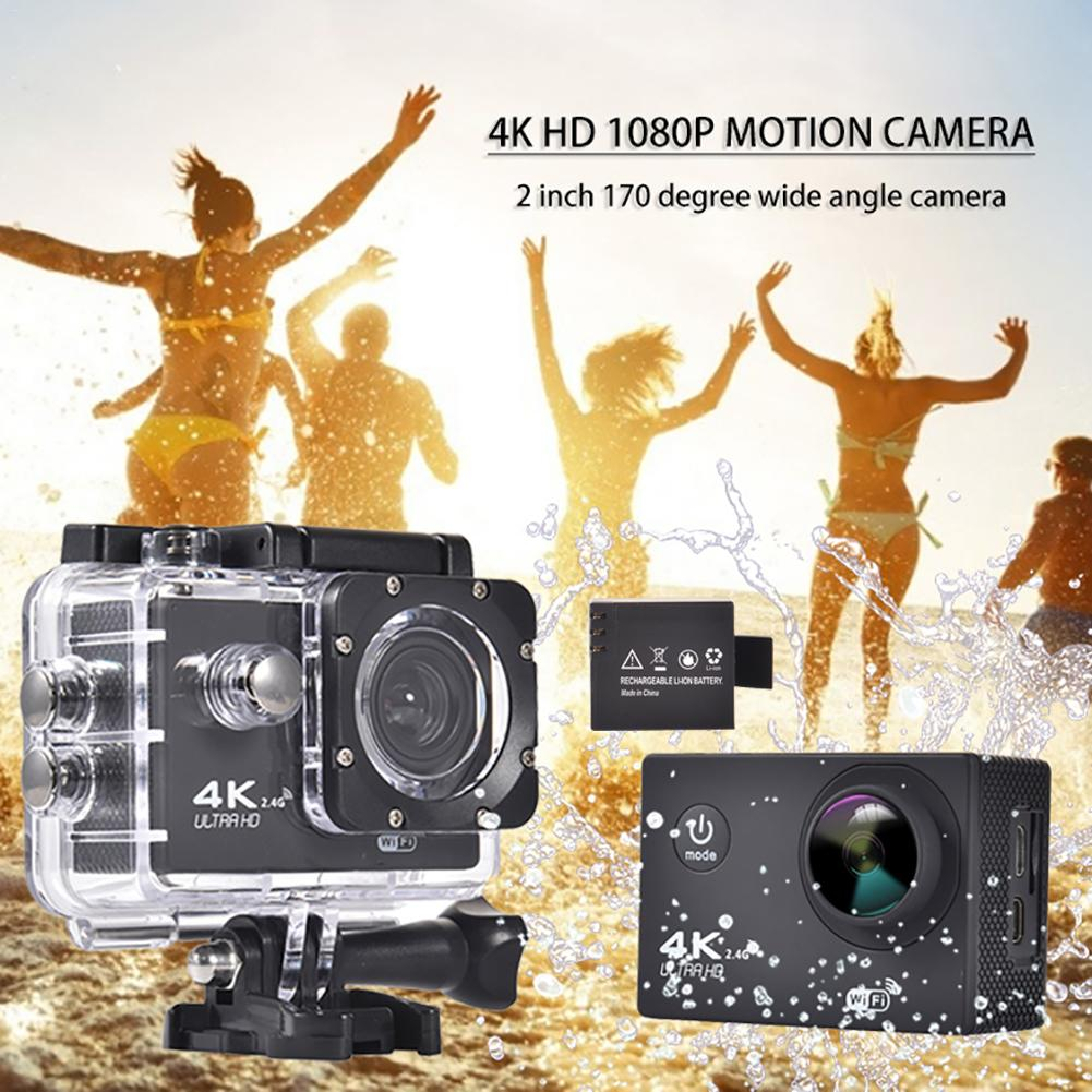 4K Ultra HD 1080P Action Camera 2 Inch 170 Degree Wide Angle Waterproof 12MP WiFi Camera Video Recording Cameras Sport Cam