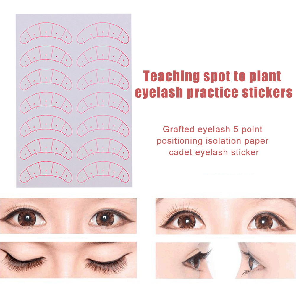 Eyelash Graft Positioning Stickers Excellent Craftsmanship Well Durability Patch Lashes Extension Practice Training Pads