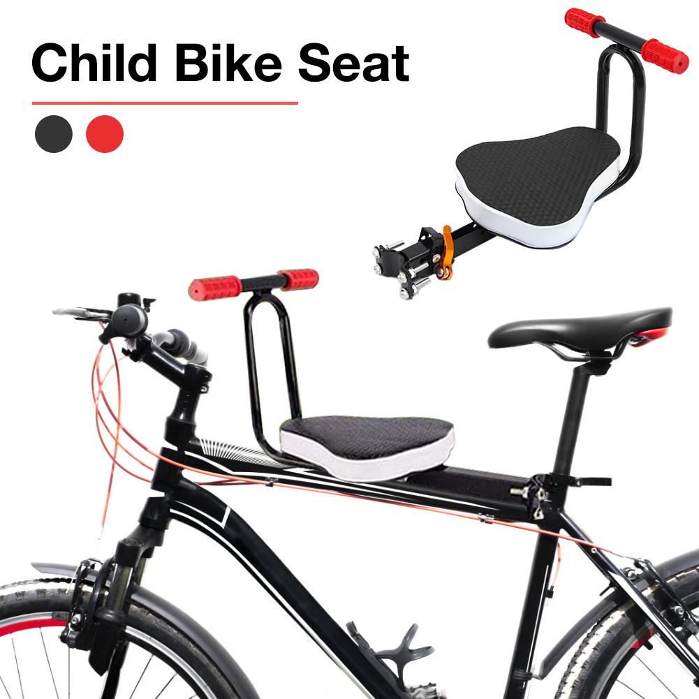 Child Bike Seat Foldable Ultralight Front Mount Baby Kids Bicycle Carrier With Handrail For Mountain Bikes Hybrid Bikes Fitness