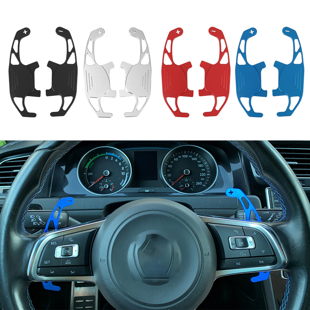 LEEPEE автомобильный рычаг переключения передач на руль, расширенный автомобильный Стайлинг 2 шт./компл. для VW GOLF GTI R GTD GTE MK7 7 POLO GTI Scirocco