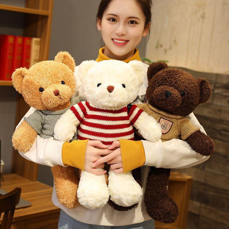 21 разная модель плюшевый мишка с свитер мягкие Животные плюшевые игрушки куклы для малышей и детей постарше день рожденье подруги подарки