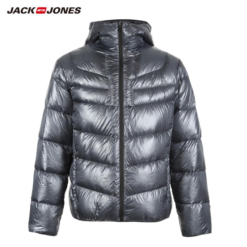 JackJones Winter Men's Hooded Stand Collar Parka Coat Down Jacket Warm Streetwear Menswear 218412552