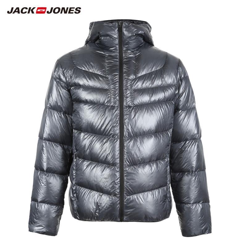 JackJones Winter Men's Hooded Stand Collar Parka Coat Down Jacket Warm Streetwear Menswear 218412552