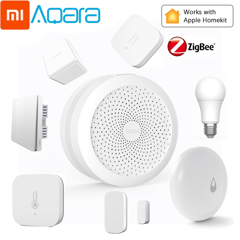 Xiaomi Aqara Smart Home Kits Gateway Hub Zigbee Wireless Switch Human Motion Humidity Water Door Sensors Smart Remote Control