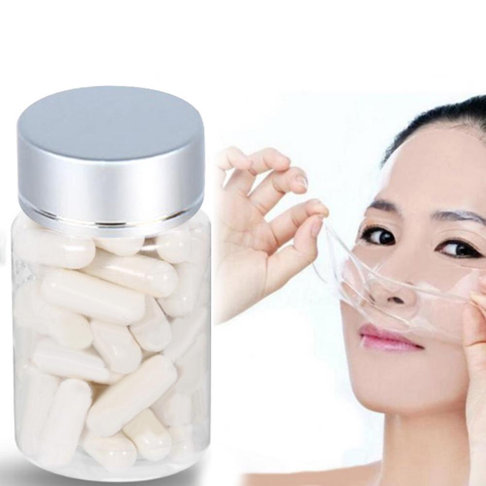 50pcs Collagen Powder Capsules Protein Bioactive Peptides Crystal Face Mask Rejuvenation Shrink Pore Whitening Cream Skin Care 1