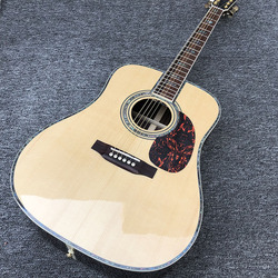 Factory custom 41'' 45 D 20 frets pearl inlay and binding acoustic guitar with gold hardware,colorized shell edge free shipping