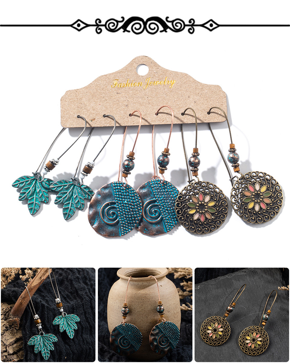 Hed8ed7e8c99e4f7aba983e38ce20a4091 - Multiple Women's  Boho Ethnic Drop Earrings