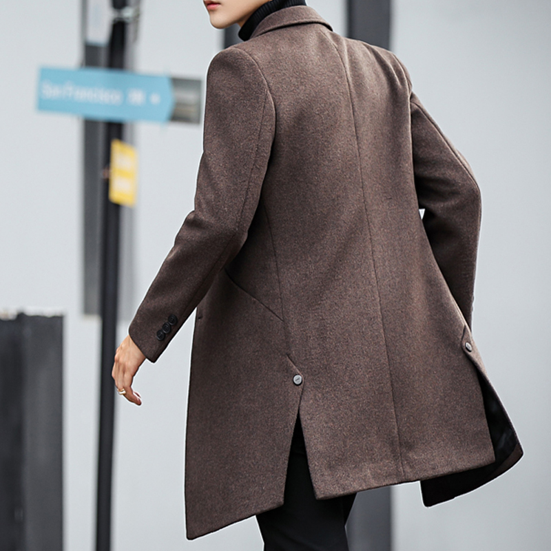Trench Mens Coats Wool Causal Overcoat Windbreaker Outwear Formal Long Jacket