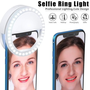 Selfie LED Ring Flash Light Portable Mobile Phone 36 LEDS Selfie Lamp Luminous Macro Fill Light HD Mobile Lens For Iphone image