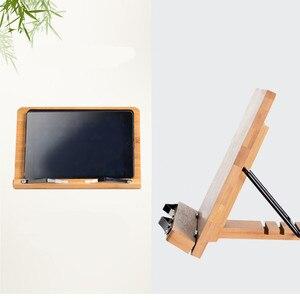 Image 5 - Tablette de lecture, support de livre pliable, réglage de la hauteur, pour salle détude, cuisine, support de livre pliable, Pages fixes en bambou
