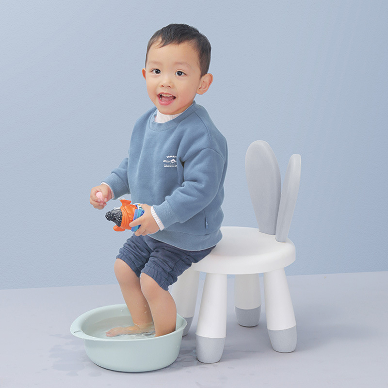 Children's Chairs Baby Cute Cartoon Bench Household Rabbit Backrest Plastic Stool Kids Chair For Kids Furniture Baby Kids Stool