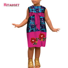 2019 New African  kids dashiki Traditional cotton Dresses Clothing Matching Africa Print Children WYT394