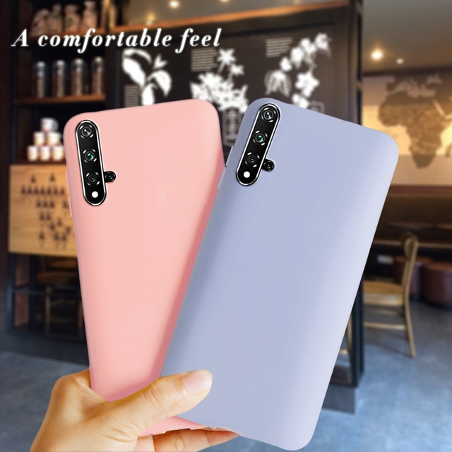 For Huawei Nova 5T Case Shockproof Soft Silicone Cute Candy TPU Phone Case For Huawei Nova 5T Cover Funda For Huawei Nova 5T 5 T