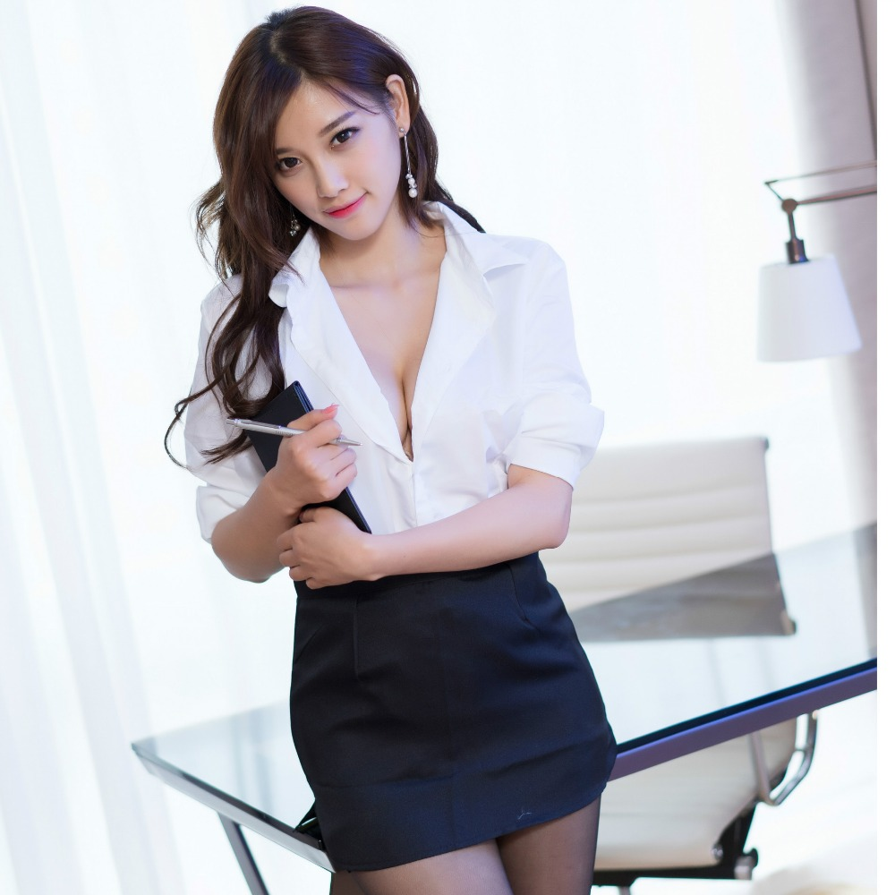 Dropship Office Lady Uniform Outfit Sexy Lingerie Erotic Lingerie Lenceria Sexy Costumes Babydoll Clubwear Dress Sleepwear