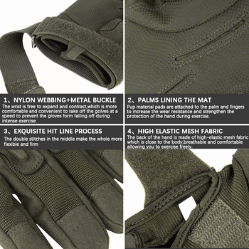 Military Outdoor Adventure Mountaineering Anti-Slip Sun Protection All-Finger Sports Riding Tactical Gloves 5