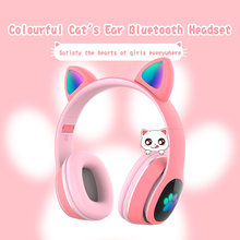Bluetooth наушники с кошачьими ушками для девочек