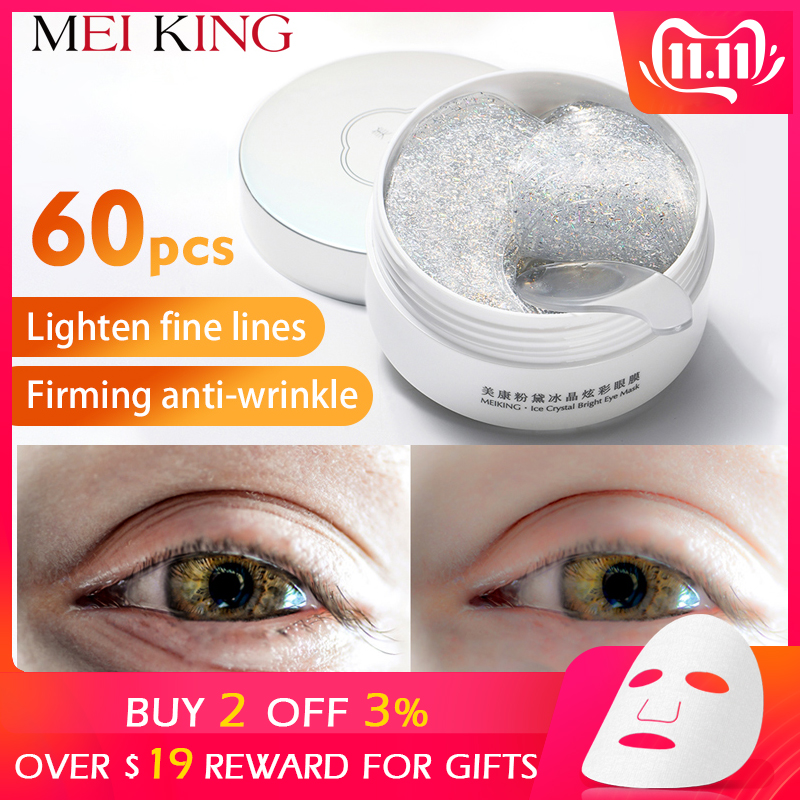 MEIKING Eye Mask Collagen Remover Dark Circles Eyes Patches Hyaluronic Acid Nicotinamide Anti-Puffiness Anti-Aging Eyes Care60pc