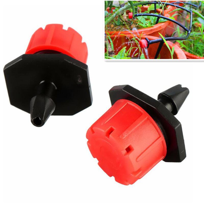 1000Pcs/Pack Red Adjustable Dripper Emitter On Barb For Mini Drip Irrigation Plant Flower Watering Sprayer N109 Watering Kits     - title=