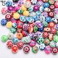 25 шт 12 мм цветной цветок из полимерной глины бусины для изготовления ювелирных изделий для девочек Diy браслет Perles Свободные Круглые бусины C602 - фото