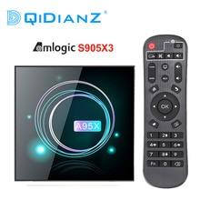 A95XF3 Slanke Android 9.0 Amogic S905X3 Smart Tv Box Ondersteuning Wifi Bluetooth USB3.0 Youtube A95X F3 Slanke Media Speler Pk HK1MAX H96