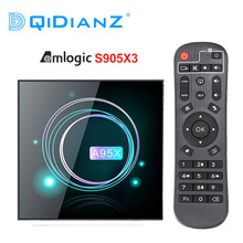 A95XF3 mince Android 9.0 Amogic S905X3 Smart TV BOX Support Wifi Bluetooth USB3.0 Youtube A95X F3 lecteur multimédia mince PK HK1MAX H96